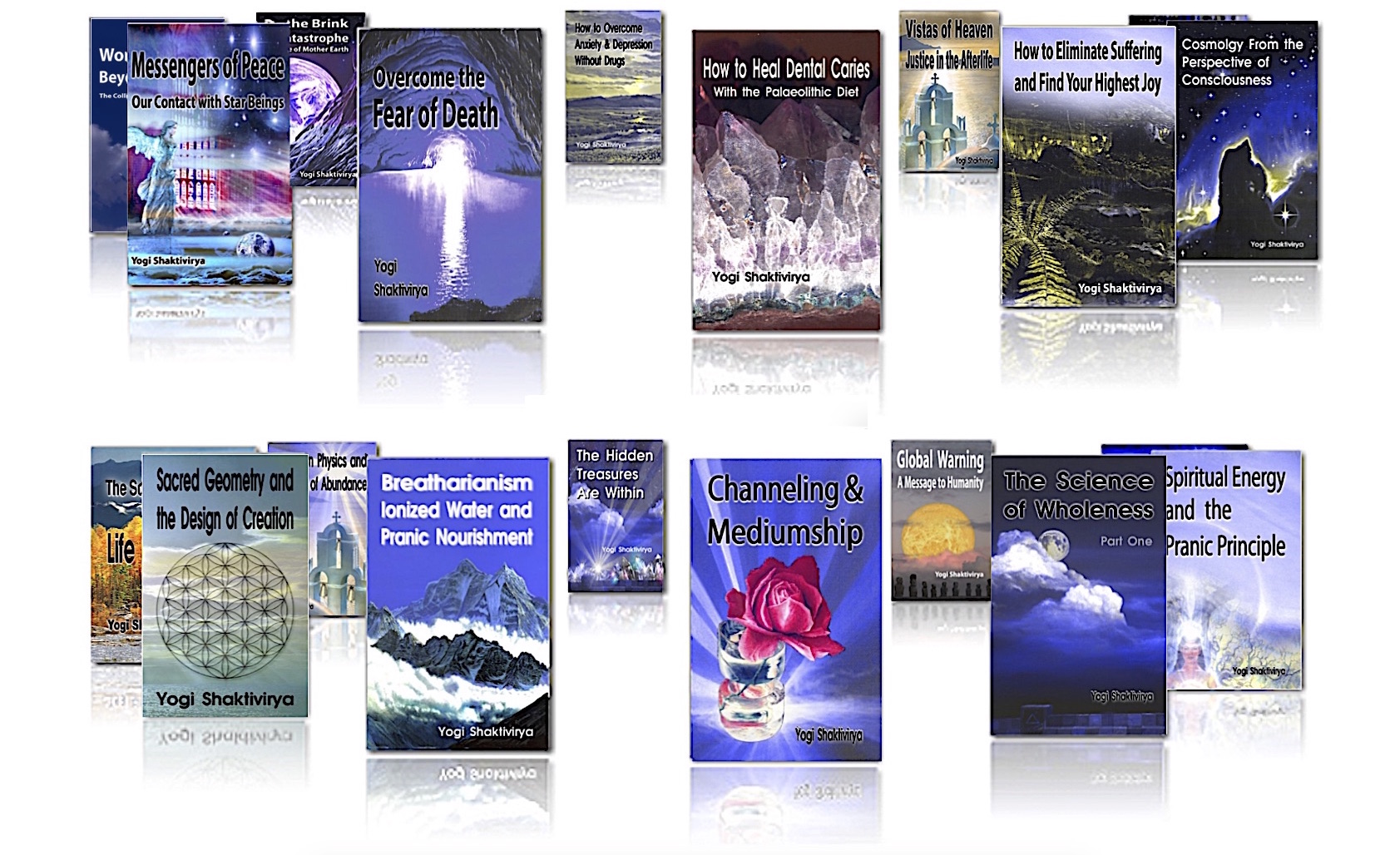 Russll's Spiritual Books on cosmology, afterlife, diet, nutrition, sacred geometry, and law of attraction