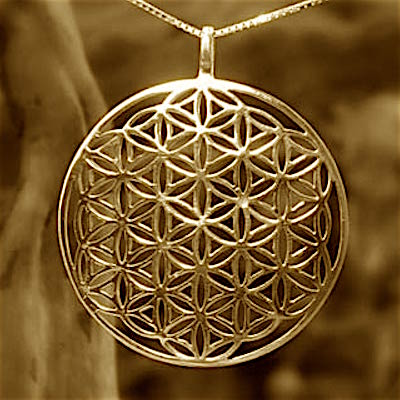 Gold Flower of Life Pendant