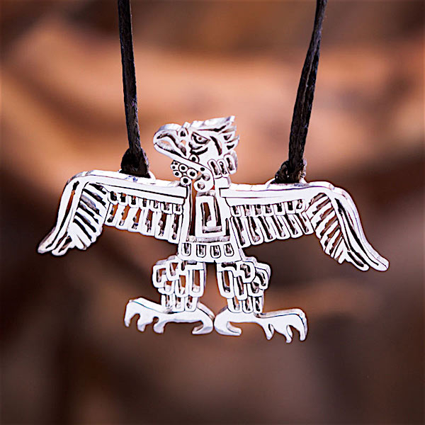 14k Silver, Native American Eagle Pendant