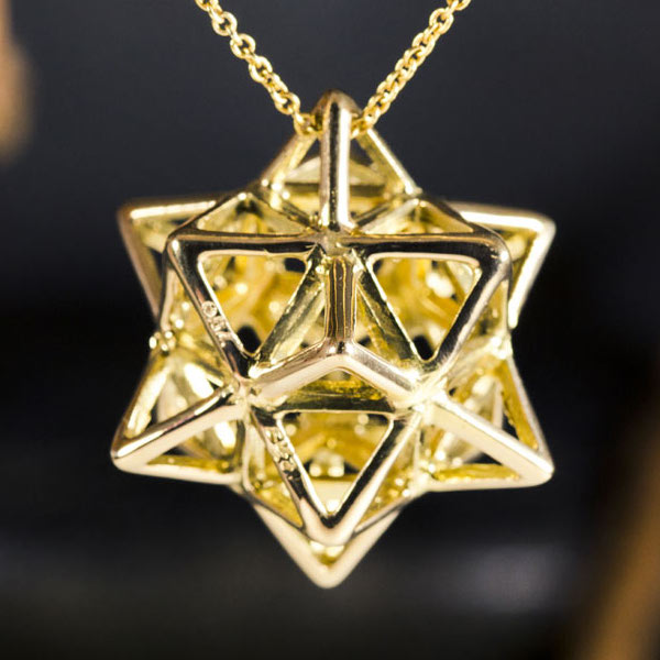 Alchemy Pendant Gold - A Powerful Energy Purifier
