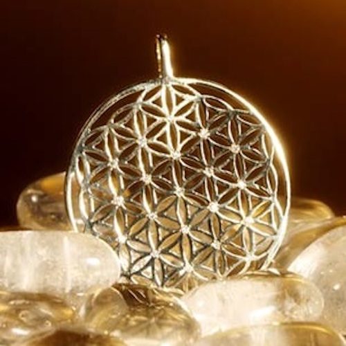 14k Gold with Diamonds Flower of Life Pendant
