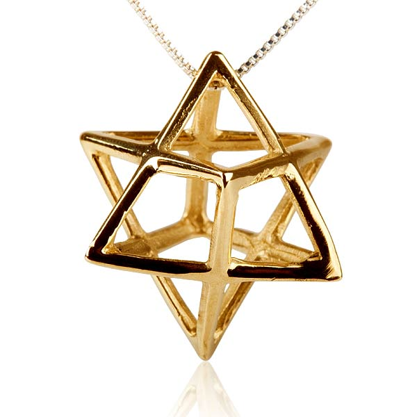 Merkaba Pendant Gold Big - A Powerful Symbol of Healing and Protection