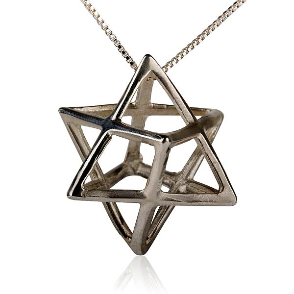 Merkaba Pendant Silver Big - A Powerful Symbol of Healing and Protection - A Powerful Energy Purifier